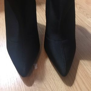 Fashion Nova Shoes - FASHION NOVA 🖤 EUC Black clear wedge booties